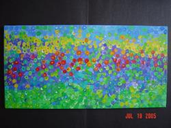 Art: Mosaic Pansies by Artist Stacey R. Zimmerman