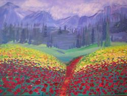 Art: Tuscan Poppies by Artist Stacey R. Zimmerman