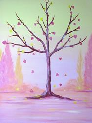 Art: Hearts from a Tree by Artist Stacey R. Zimmerman