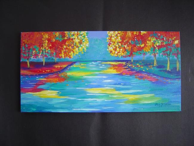 Art: Autumn's Intensity 'Sold' by Artist Stacey R. Zimmerman