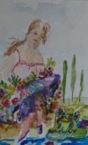Detail Image for art The Princess and The Frog-SOLD