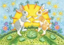 Art: BY THE LIGHT OF THE CARROT MOON by Artist Susan Brack
