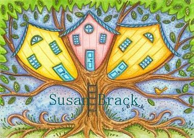 Art: TREE HOUSE OF LIFE by Artist Susan Brack