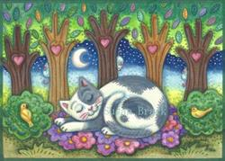 Art: LAND OF CATNAPS AND DREAMS by Artist Susan Brack