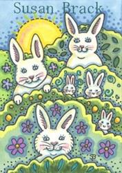 Art: RABBITS, BUNNIES AND HARES, OH MY! by Artist Susan Brack