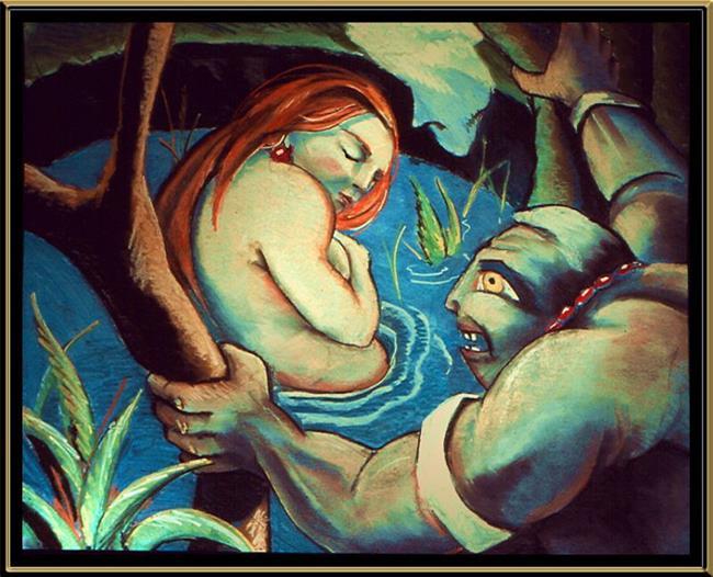 Art: Artemis and Acteon by Artist David Mott