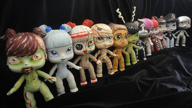 Art: Nasty Toys for Naughty Children (group shot small size) by Artist Noelle Hunt