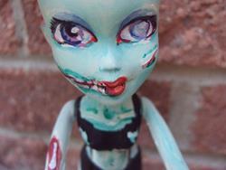 Art: Big Eyed Zombie girl of the Apocalypse by Artist Noelle Hunt