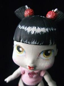 Detail Image for art Gothic Gisha altered art emo doll (Nasty toys for Naughty Children)
