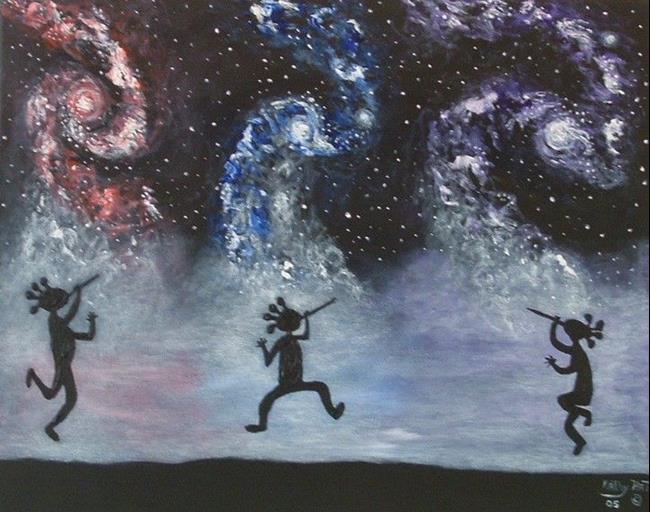 Art: Celestical Star Dance by Artist Kathy Hatt