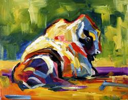 Art: Buffalo by Artist Laurie Justus Pace