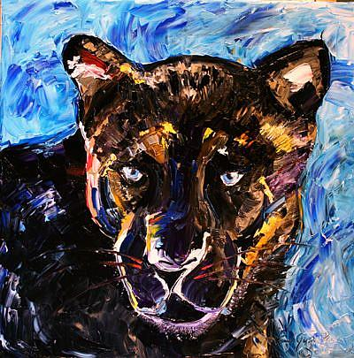 Art: Spirit Black Panther by Artist Laurie Justus Pace
