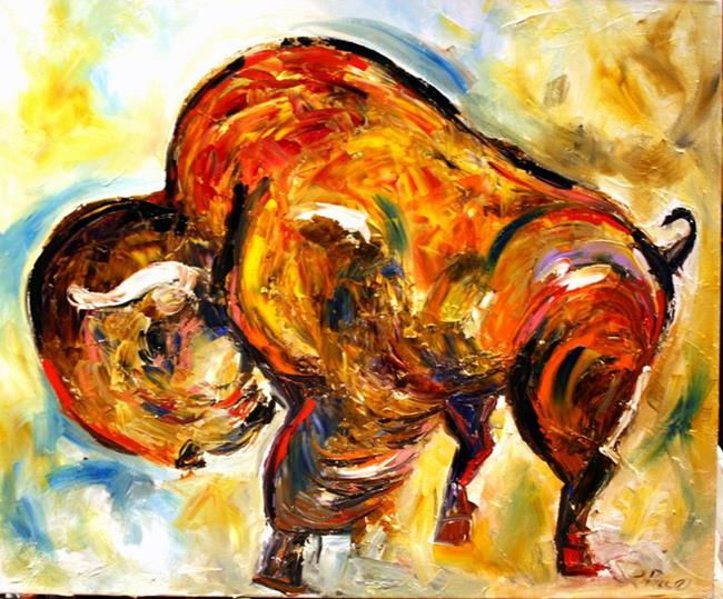 Art: Buffalo Color West by Artist Laurie Justus Pace
