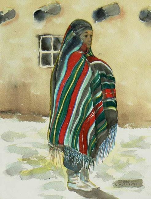 Art: First Snow, Hopi Blanket by Artist Naquaiya