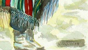 Detail Image for art First Snow, Hopi Blanket