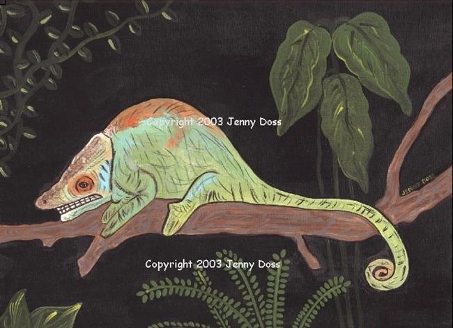 Art: Chameleon by Artist Jenny Doss