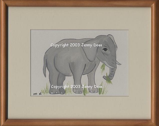 Art: Elephant by Artist Jenny Doss