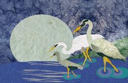 Art: Paper Cranes by Artist Carissa M Martos