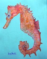 Art: Seahorse # 2 by Artist Ulrike 'Ricky' Martin