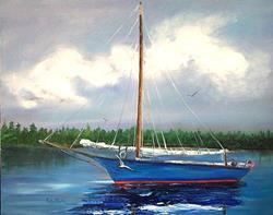 Art: Sail Away - sold by Artist Ulrike 'Ricky' Martin