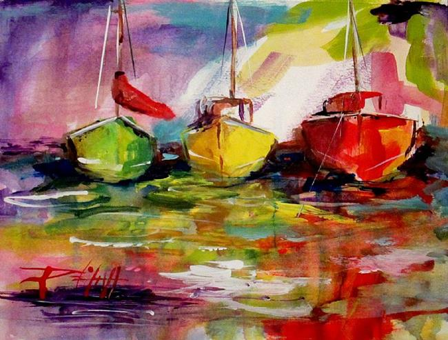 Art: Seascape- SOLD by Artist Delilah Smith