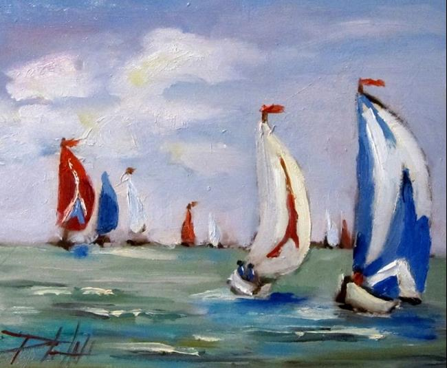 Art: Sailboats by Artist Delilah Smith