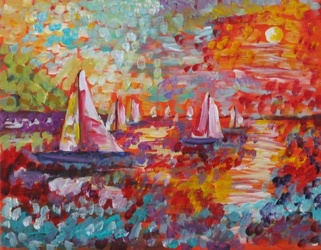 Art: Sails in the Sun-sold by Artist Delilah Smith