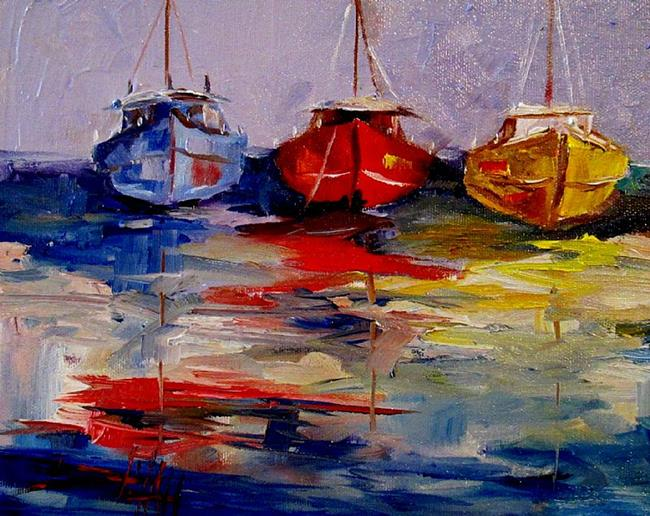 Art: Colorful Sails-SOLD by Artist Delilah Smith