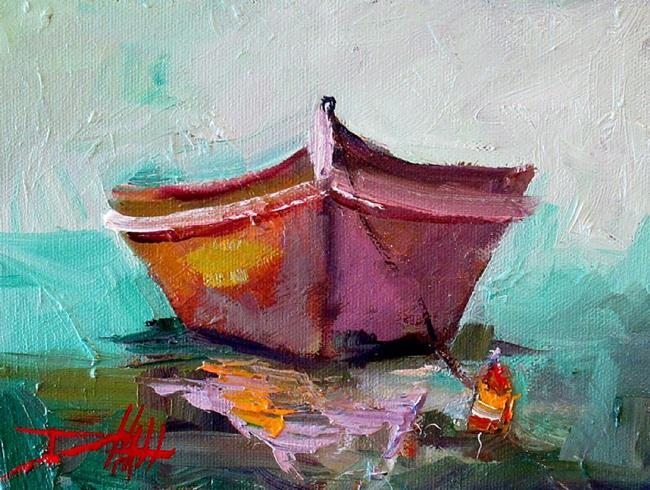 Art: Dinghy  Boat by Artist Delilah Smith
