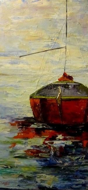 Art: Sail Boat by Artist Delilah Smith