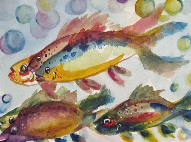 Art: Happy Fish by Artist Delilah Smith