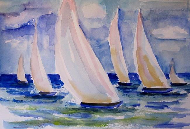 Art: Sails Across the Water by Artist Delilah Smith