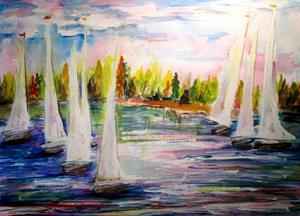 Detail Image for art Sail Boats