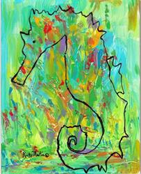 Art: Ethereal Seahorse by Artist Ulrike 'Ricky' Martin