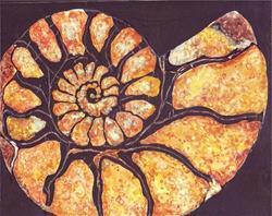 Art: Nautilus Shell 4 - sold by Artist Ulrike 'Ricky' Martin