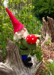 Detail Image for art Needle Felted Forest Gnome