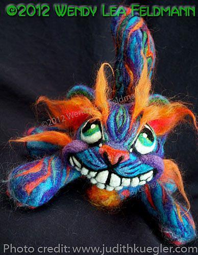 Art: Mad Cheshire Cat by Artist Wendy L Feldmann