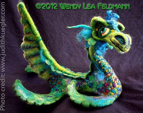 Art: Nessie the Sea Monster by Artist Wendy L Feldmann