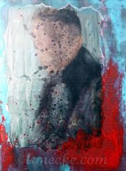 Art: Umbrella Man by Artist Toneeke Runinwater - Henderson