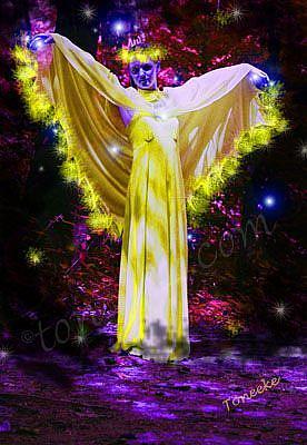 Art: The Angel Of Healing by Artist Toneeke Runinwater - Henderson