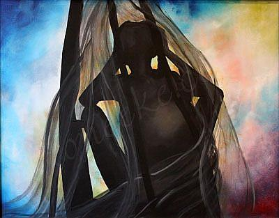 Art: Soul Beneath The Veil by Artist Toneeke Runinwater - Henderson