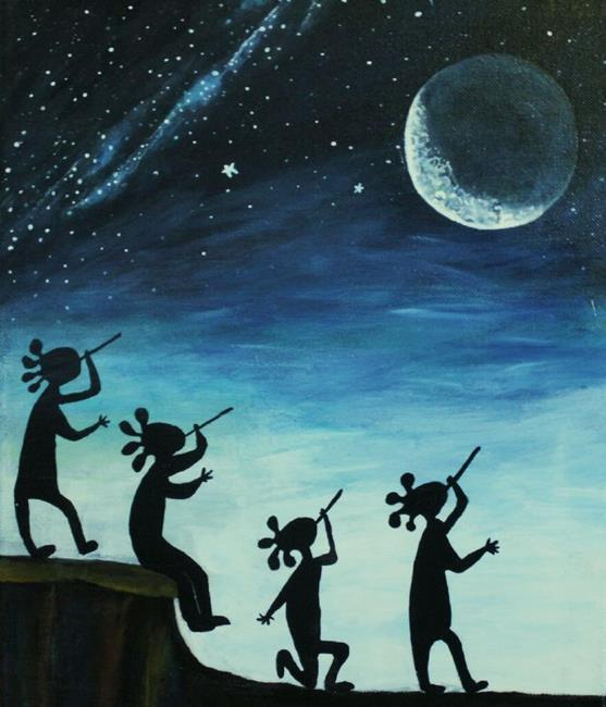 Art: Calling the Ancient Ancestors by Artist Kathy Hatt