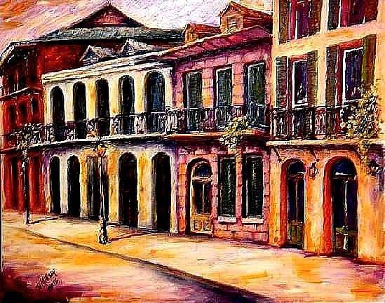 Art: The Vieux Carre' - SOLD by Artist Diane Millsap