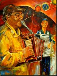 Art: Zydeco Party with Warren Prejean by Artist Diane Millsap