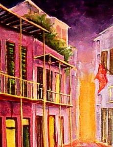 Detail Image for art French Quarter - Early Evening - SOLD