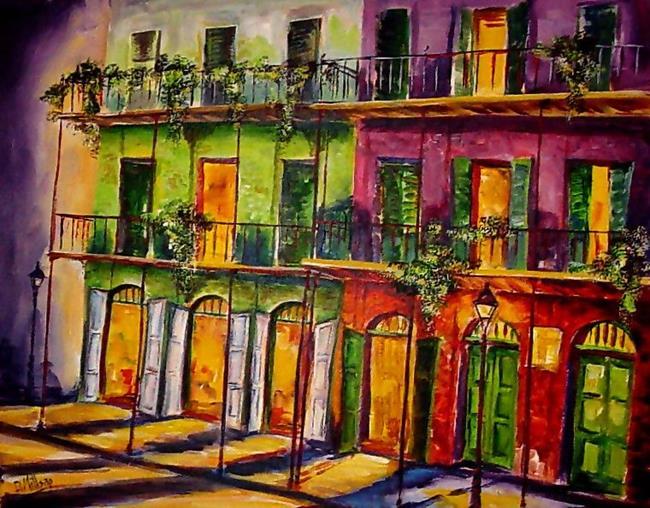 Art: Fabulous French Quarter - SOLD by Artist Diane Millsap
