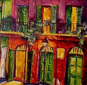 Detail Image for art Fabulous French Quarter - SOLD