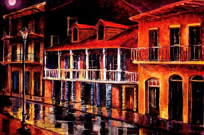 Art: Old Vieux Carre' - SOLD by Artist Diane Millsap