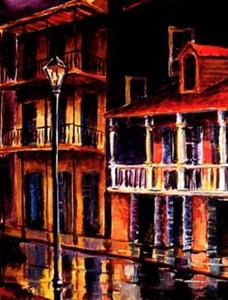 Detail Image for art Old Vieux Carre' - SOLD