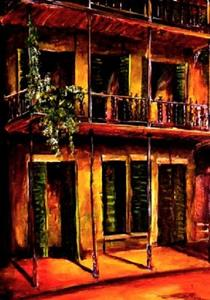 Detail Image for art Night in the French Quarter - SOLD
